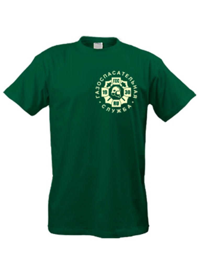 Футболка с логотипом газоспасательной службы (хаки)