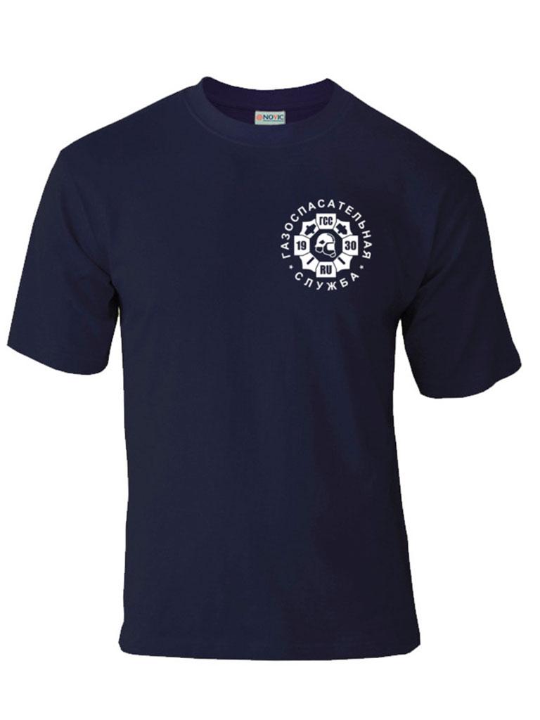 Футболка с логотипом газоспасательной службы (темно-синяя)
