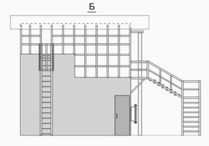 Тренажерный комплекс спасателя вид сзади