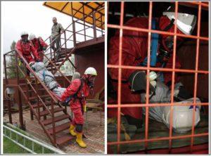 Тренажерный комплекс спасателей спуск пострадавшего