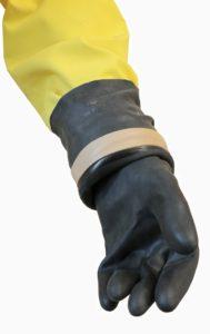 Костюм изолирующий химический КИХ-4Т перчатка пятипалая