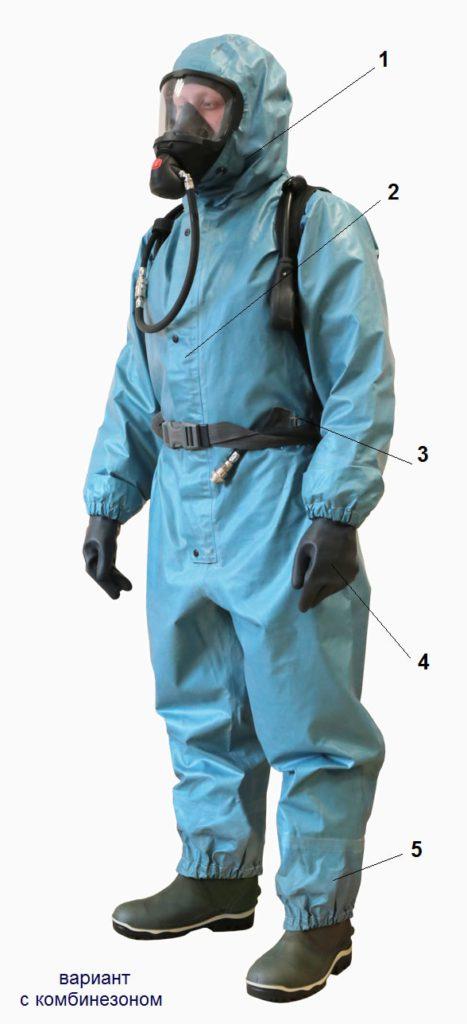 Костюм изолирующий химический КИЗ-2