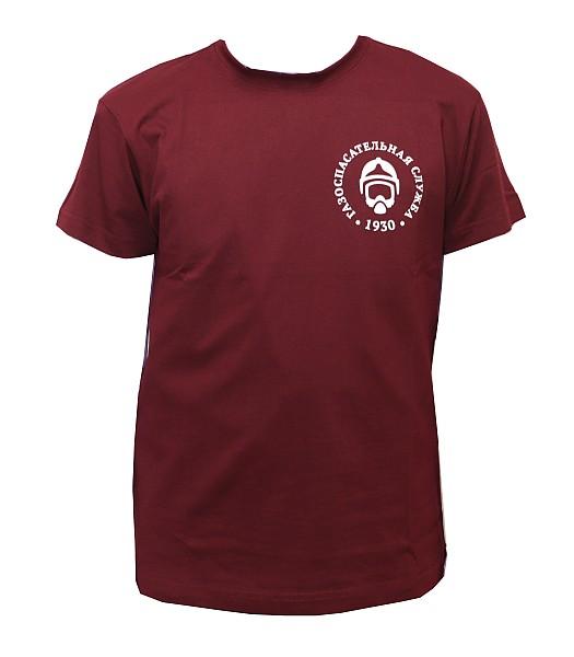 Футболка с логотипом ГСС (бордо)