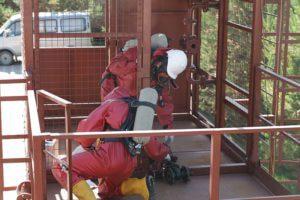 Тренажер для спасателей и пожарных работа с арматурой