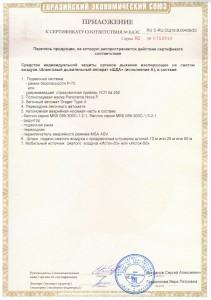 Сертификат ЕАЭС на ШДА - приложение
